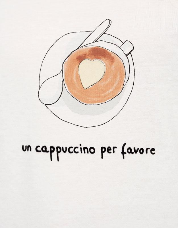 T-shirt illustration capuccino