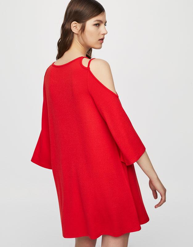 Cut-out shoulder dress