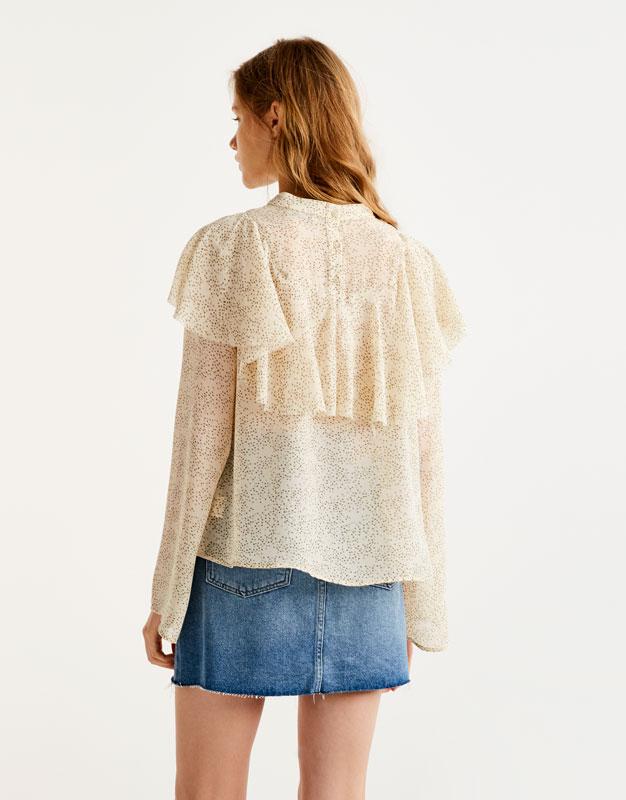 Camisa crop màniga de campana