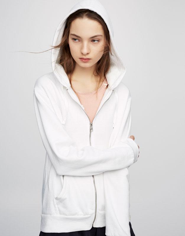 Basic-Sweatshirt mit Reißverschluss