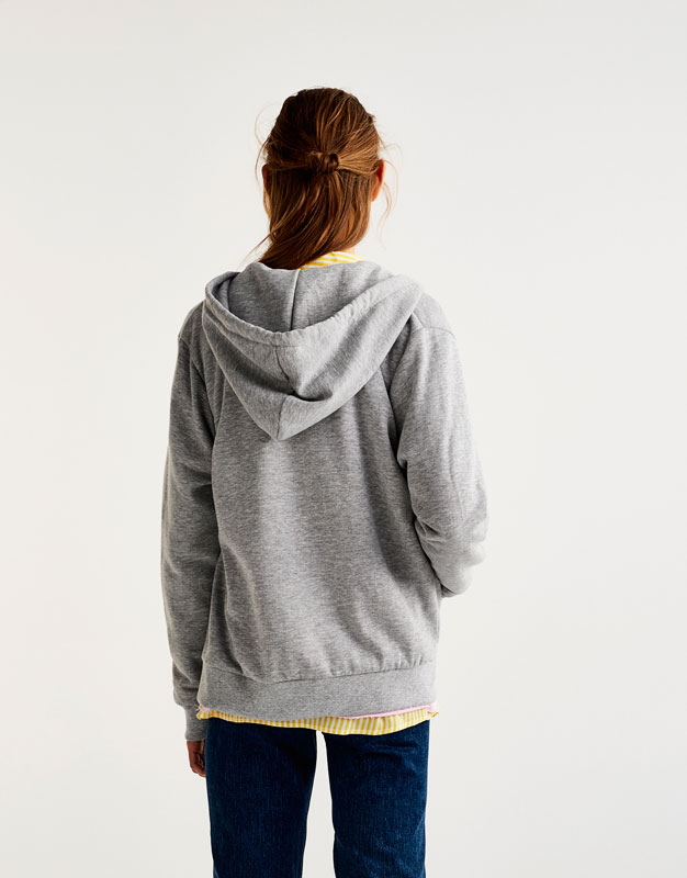Sweat basic fermeture éclair