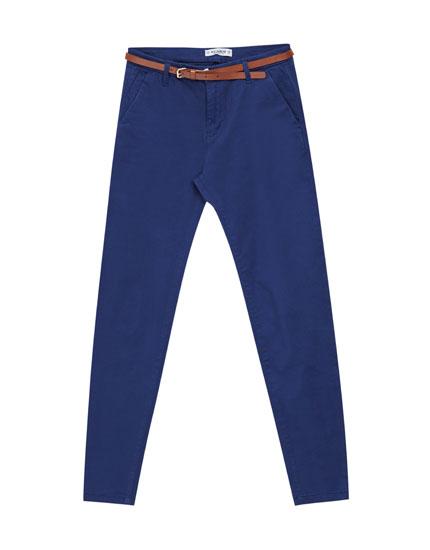 Pantalons tipus xinesos bàsics cinturó
