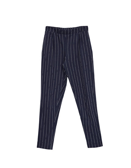Smart pinstripe trousers