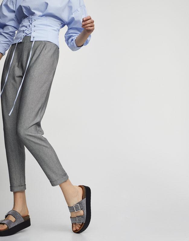 Stretch dress jogging bottoms
