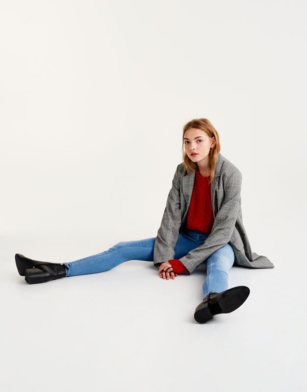 Mid-rise second skin jeans