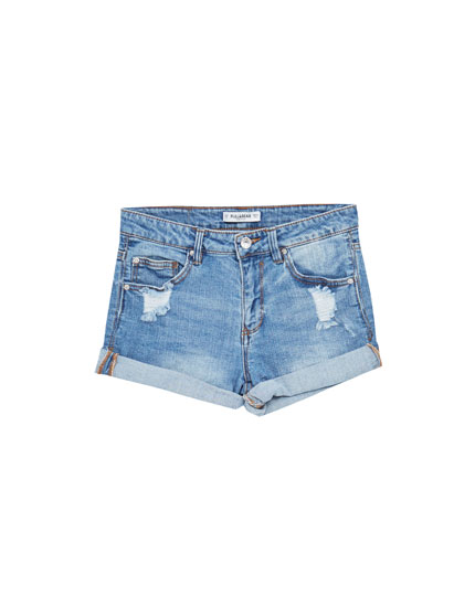 Short denim taille normale