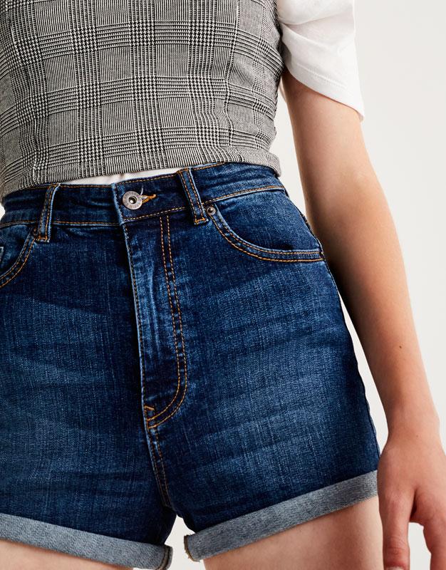 Pantalons curts denim de tir llarg