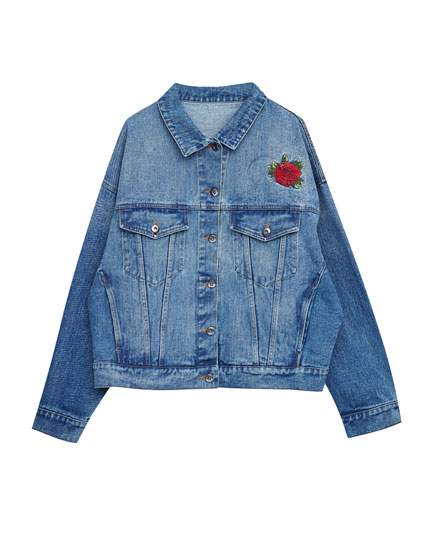 Denim jacket with back graphic