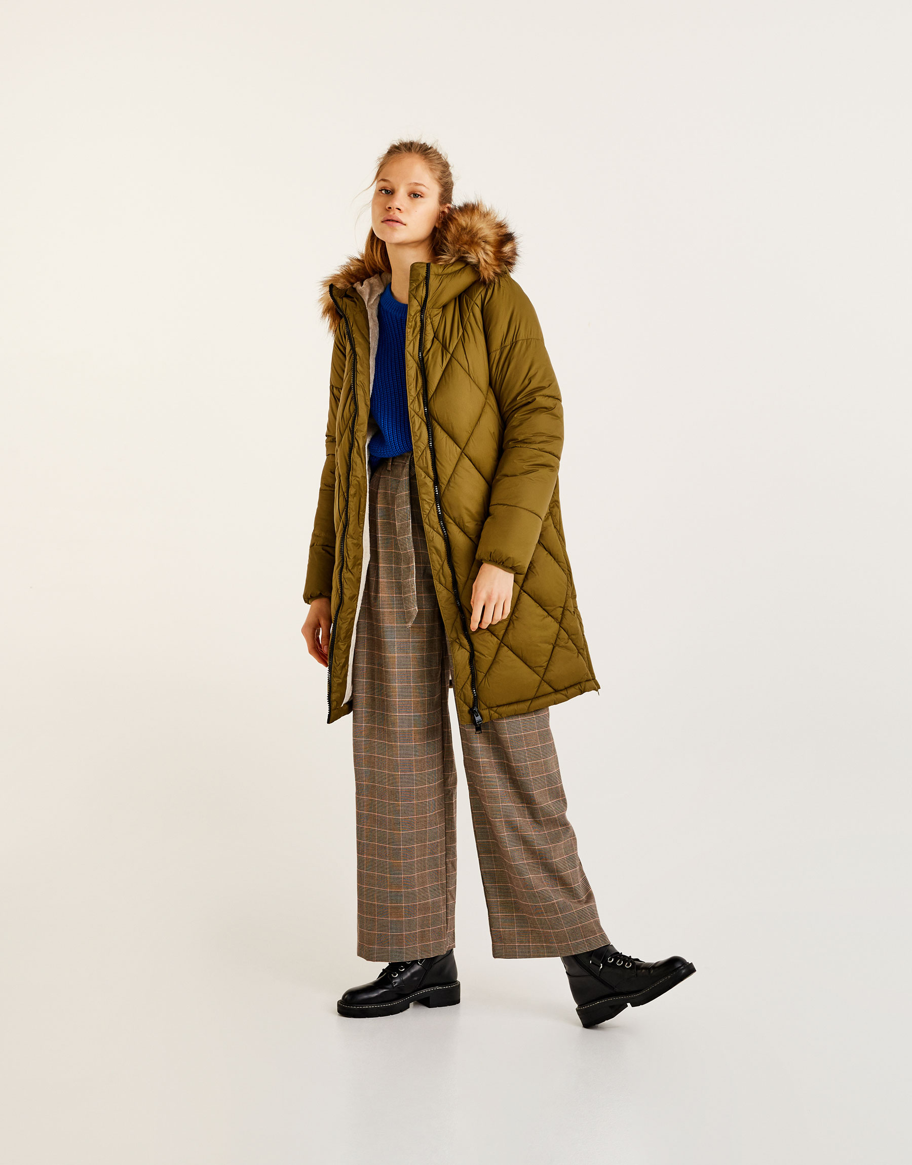 Quilted coat with lining