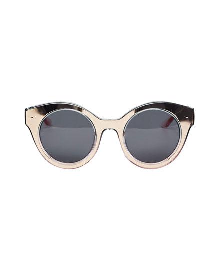 Round metallic sunglasses