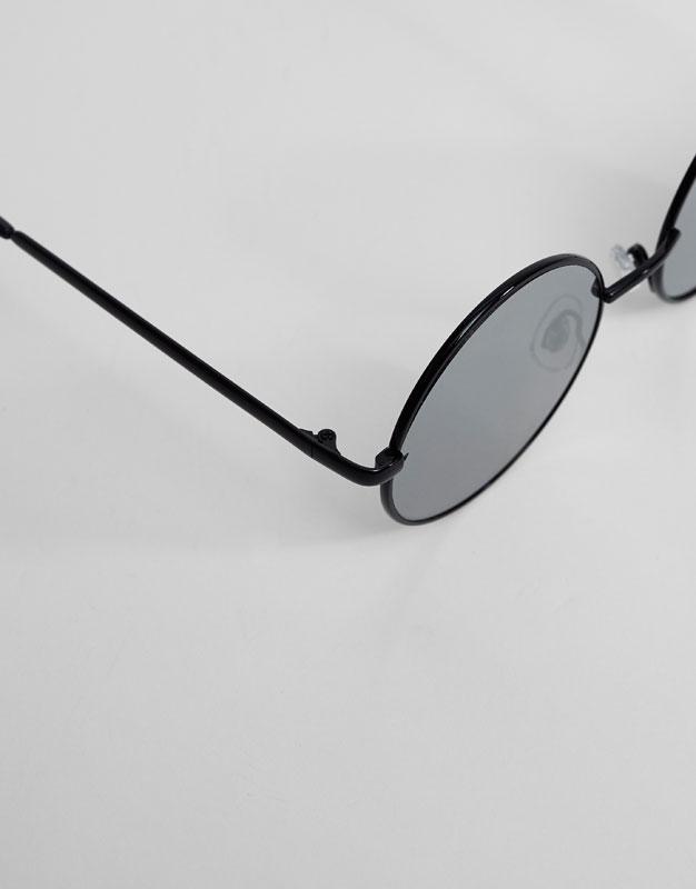 Round mirrored sunglasses