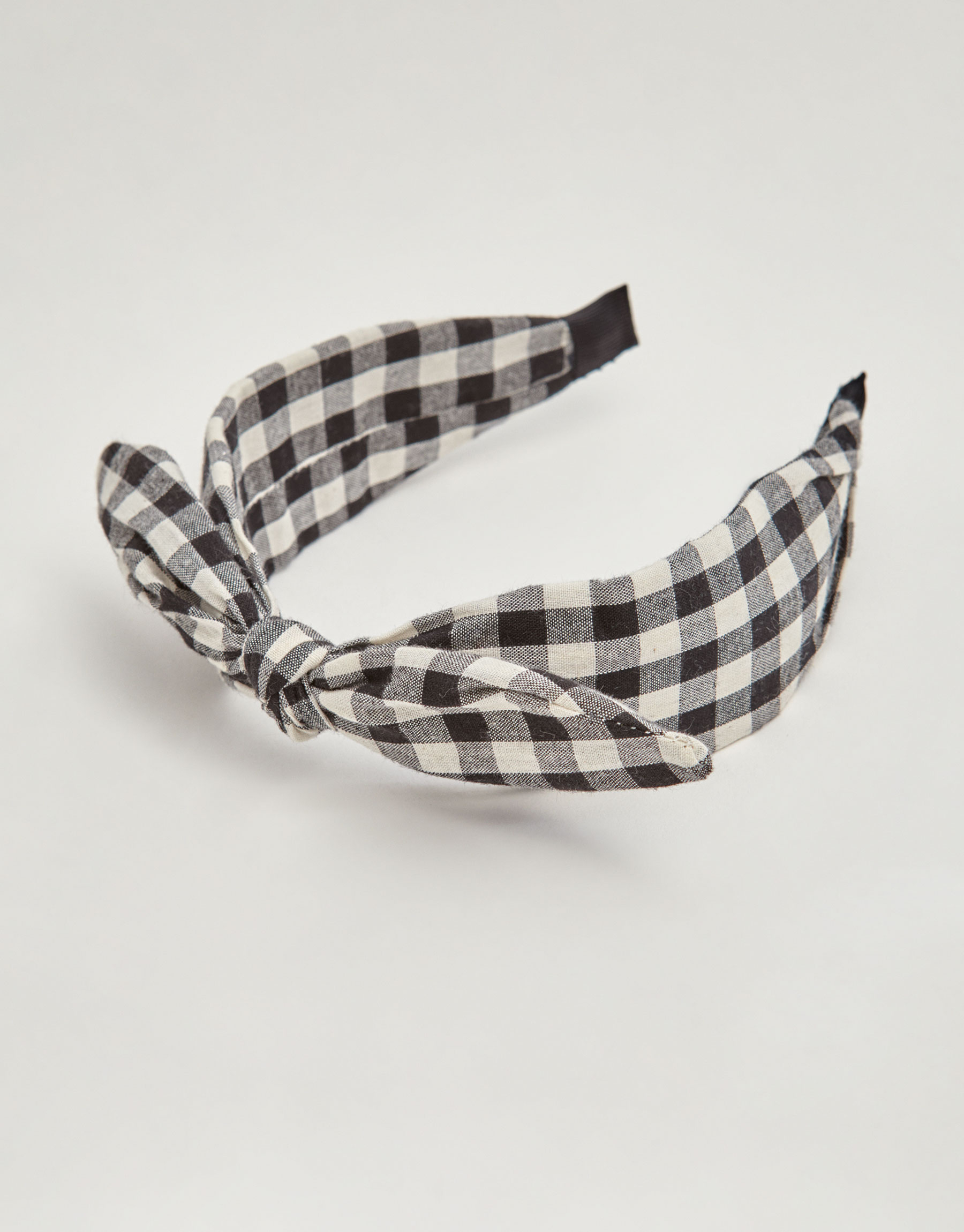 Gingham check hairband