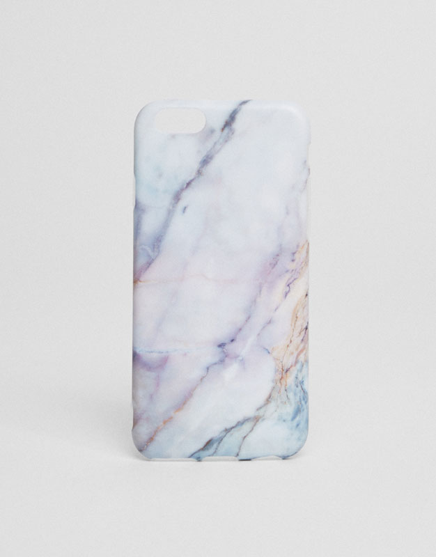 Marble print mobile phone case