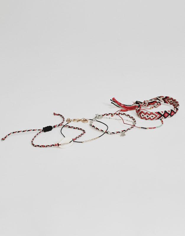 5er-Pack verschiedene Armbänder