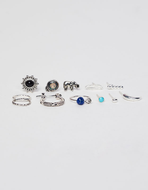 Pack of 12 assorted earrings