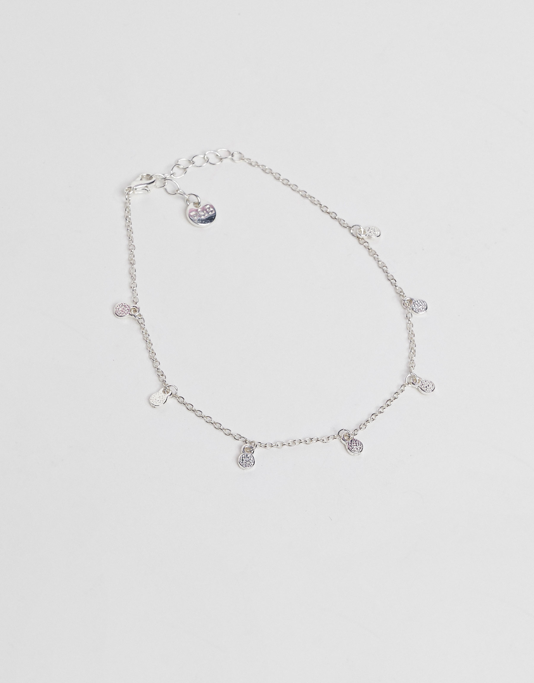 Anklet with teardrop charms