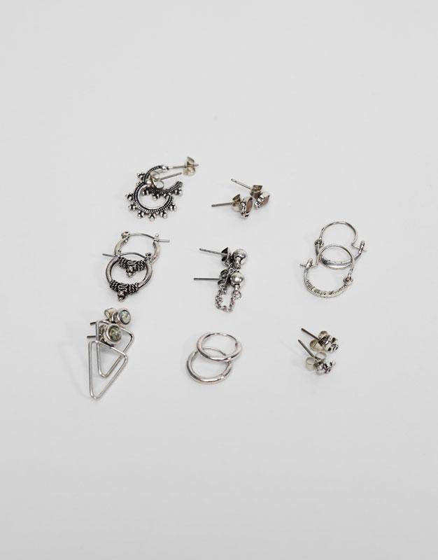 Pack of 8 boho earrings