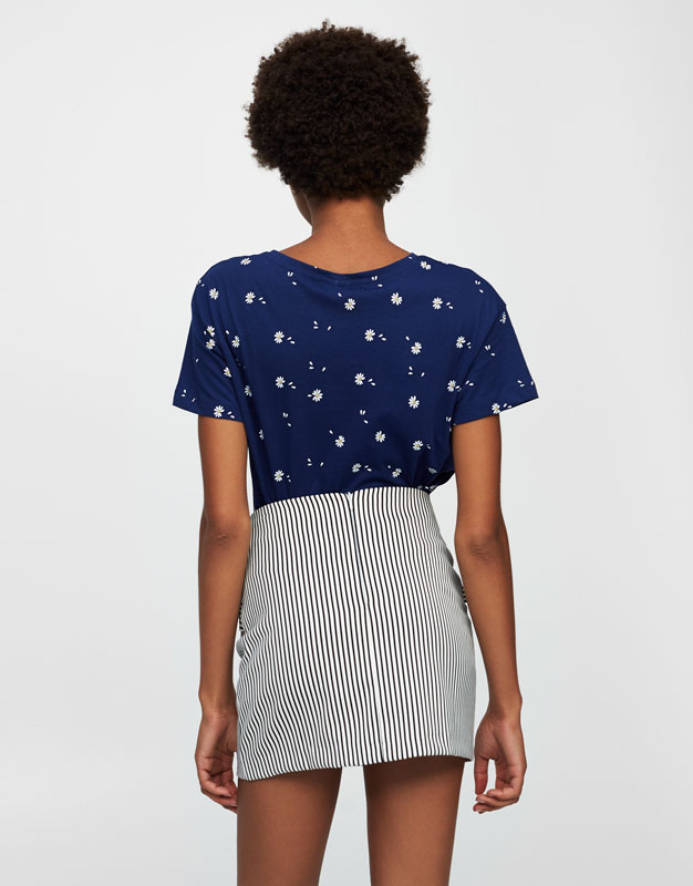All-over daisy print T-shirt