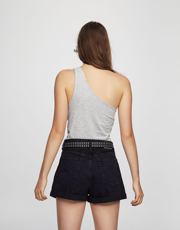 Asymmetrisches Cropped Top