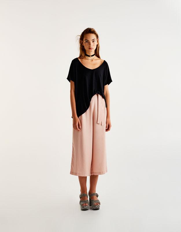 T-shirt basic fentes côtés