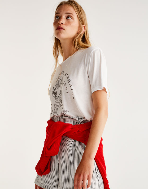 Camiseta estampado sirena