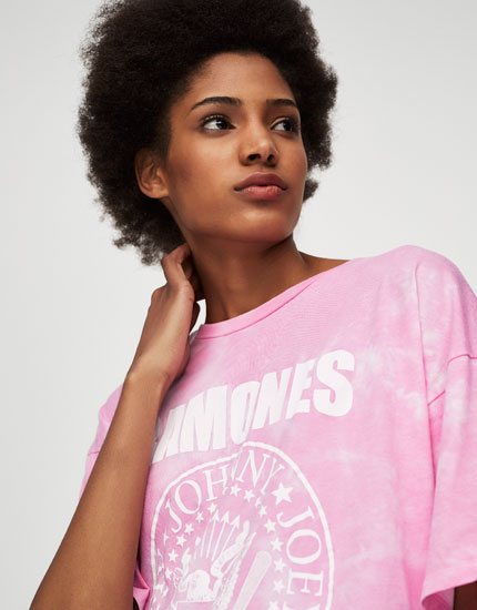 Tie-dye Ramones T-shirt