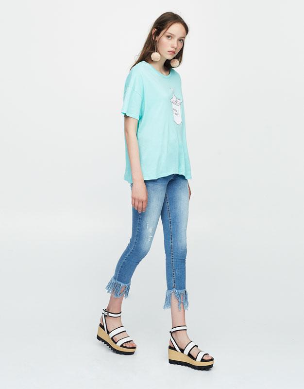 Ice cream print T-shirt
