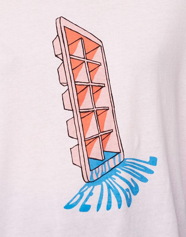 Camiseta print hielo