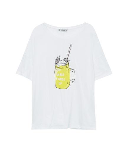 Milkshake illustration T-shirt