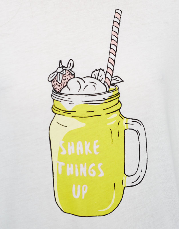 T-shirt illustration milk shake