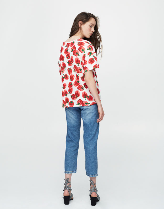 All-over pepper print T-shirt