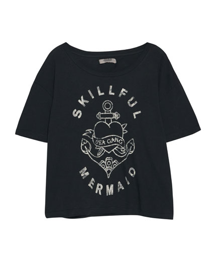 Anchor print T-shirt