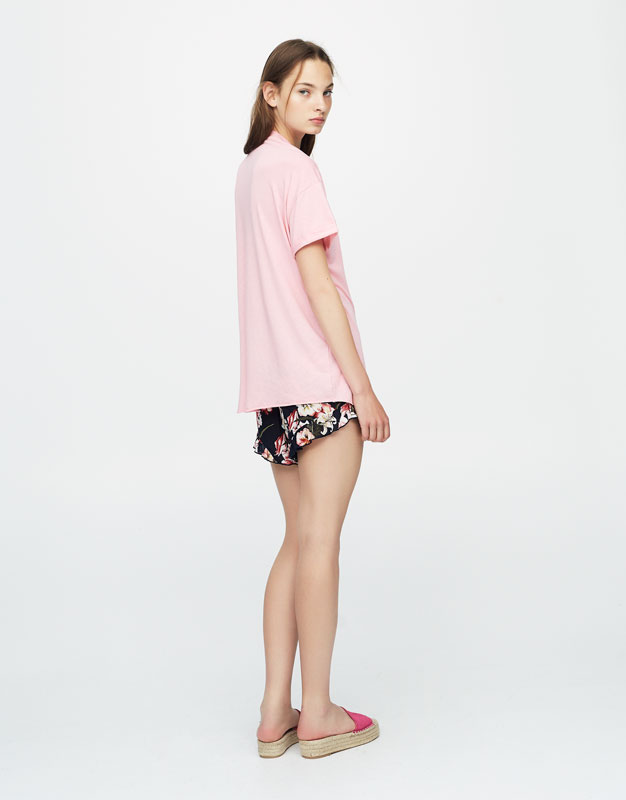 Embroidered cocktail T-shirt