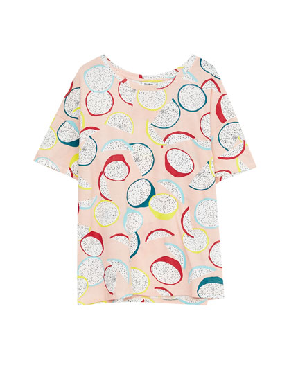 All-over fruit print T-shirt