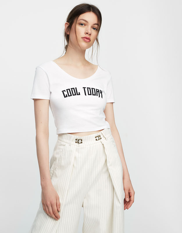 Slogan crop top