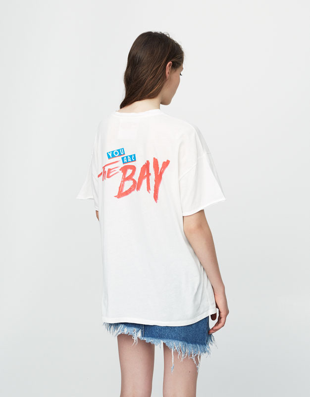 Oversized T-shirt with Baywatch graphic