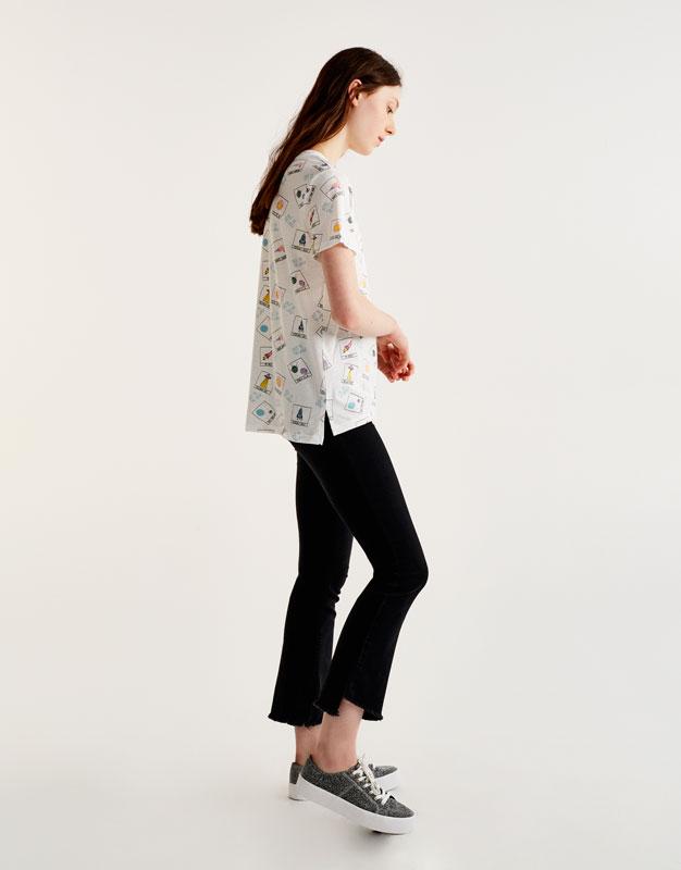 Allover-Shirt mit Weltall