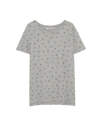 All-over cat print T-shirt