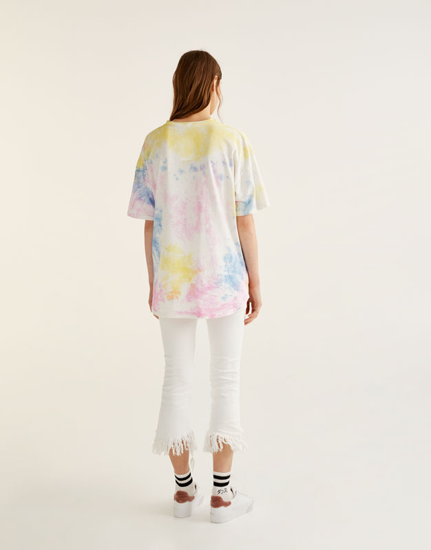 Camiseta choker tie dye