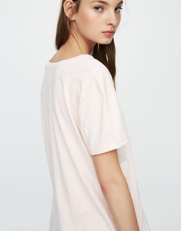 Camiseta print texto