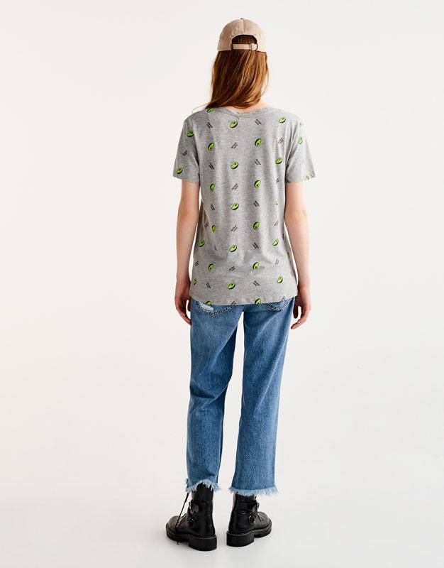 Camiseta allover aguacate