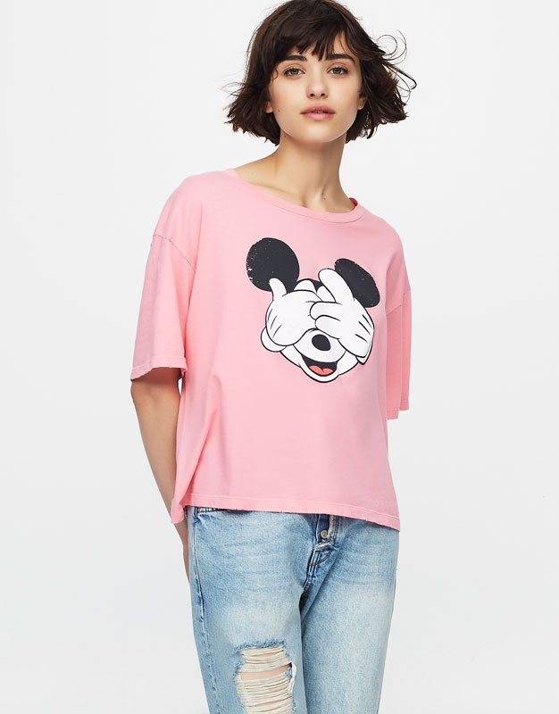 Mickey Mouse cropped T-shirt