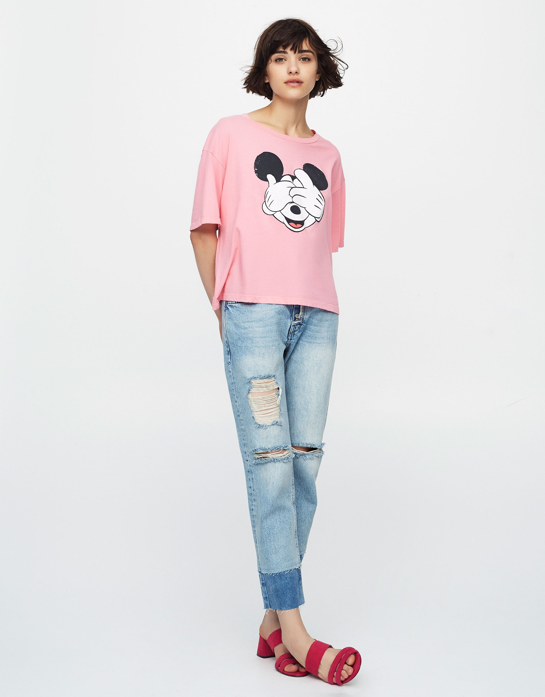 T-shirt crop Mickey Mouse