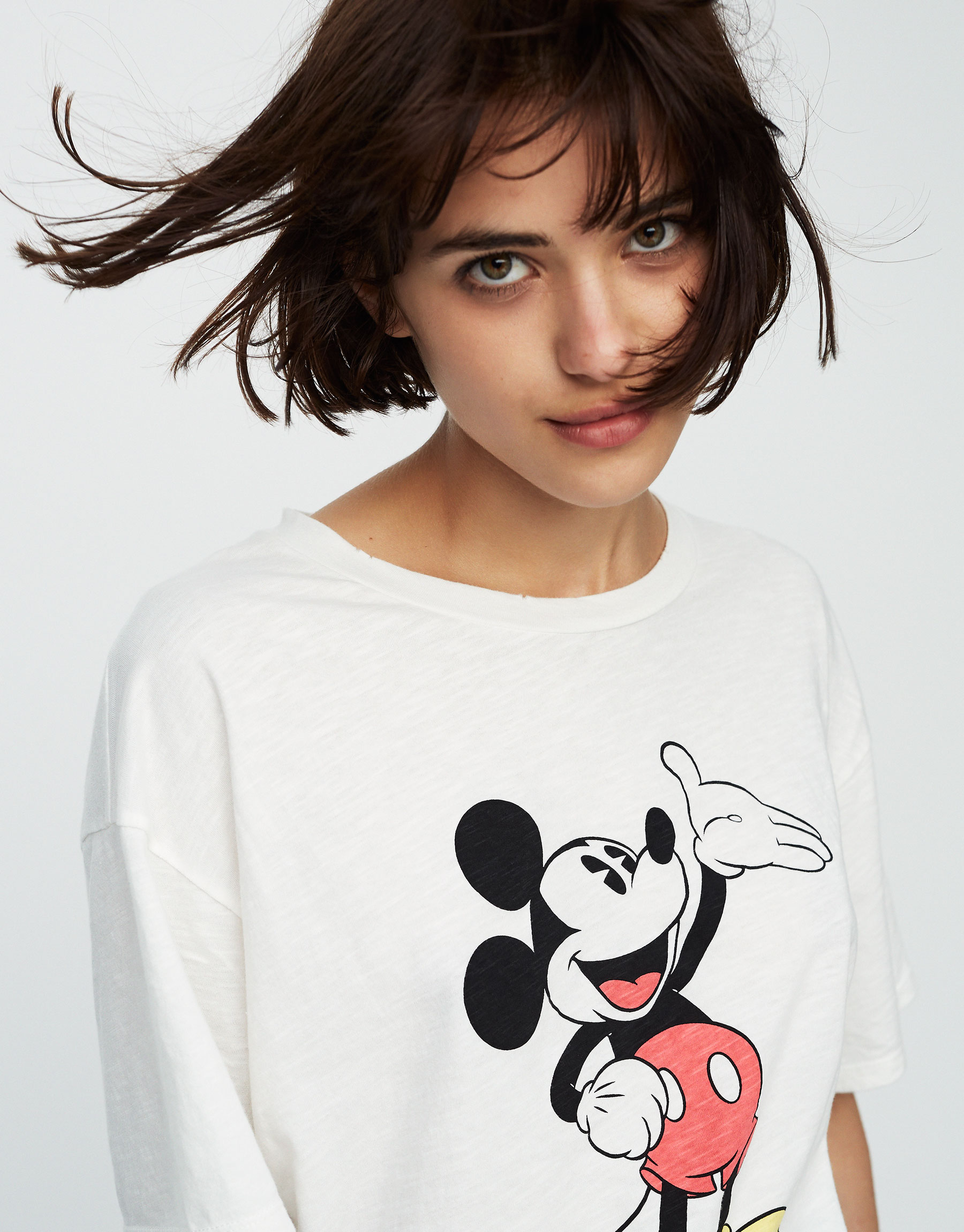 Camiseta crop Mickey Mouse