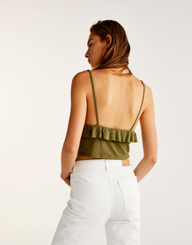 Crop top volante