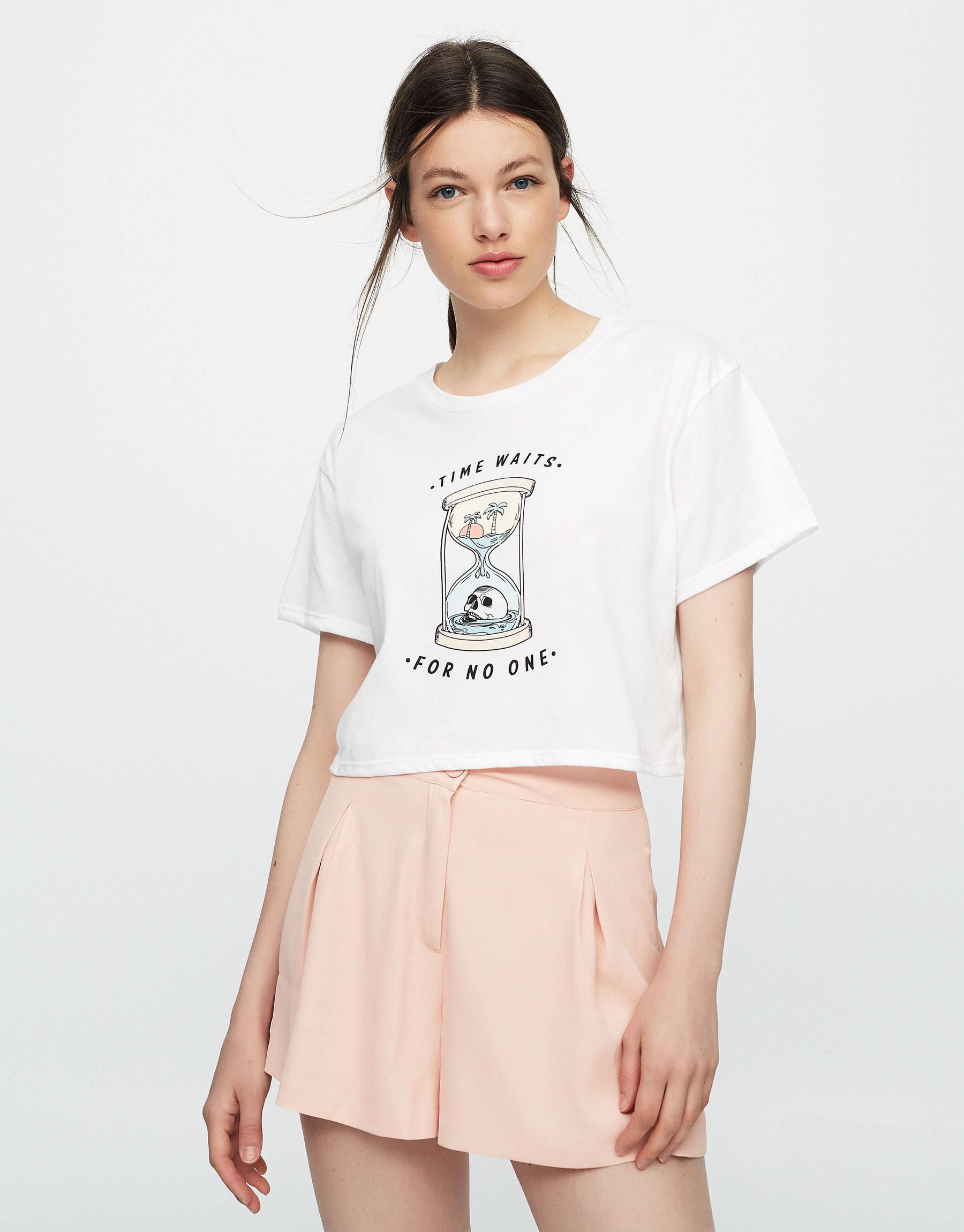 Hourglass graphic T-shirt