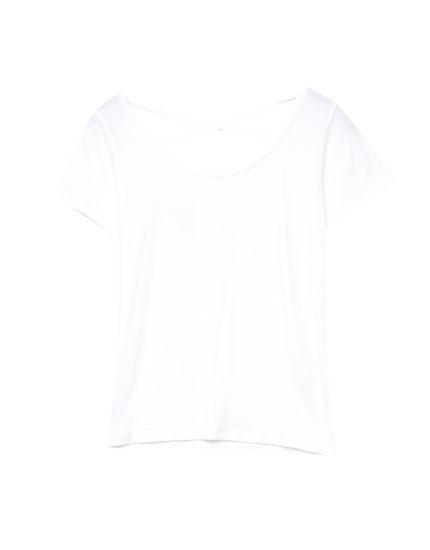 Camiseta crop espalda corsario