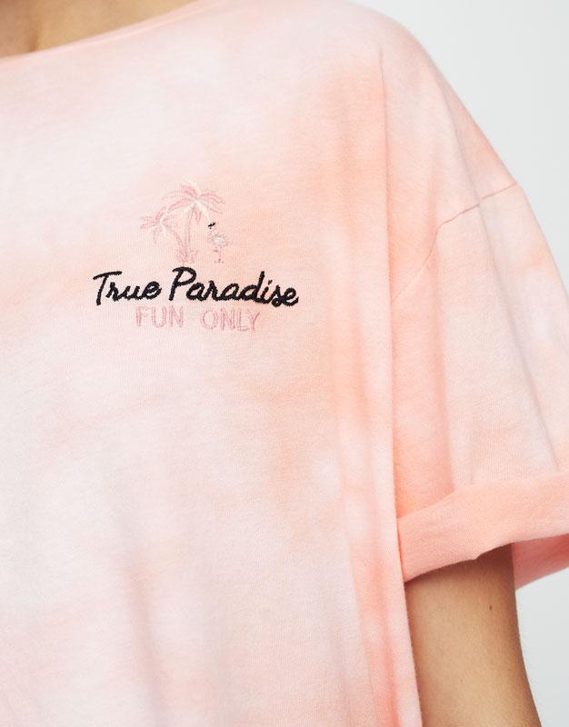 T-Shirt im Batiklook