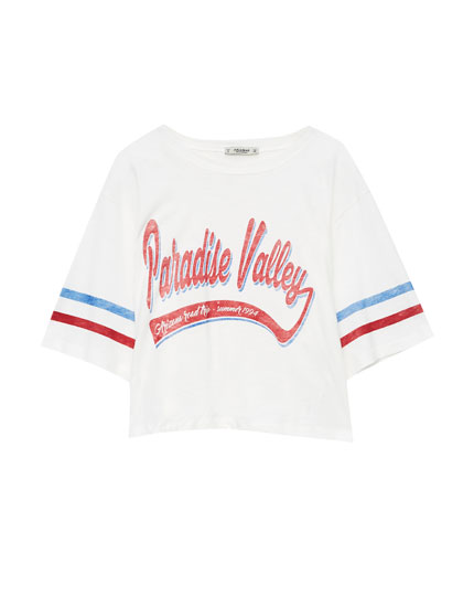 'Paradise Valley' slogan T-shirt