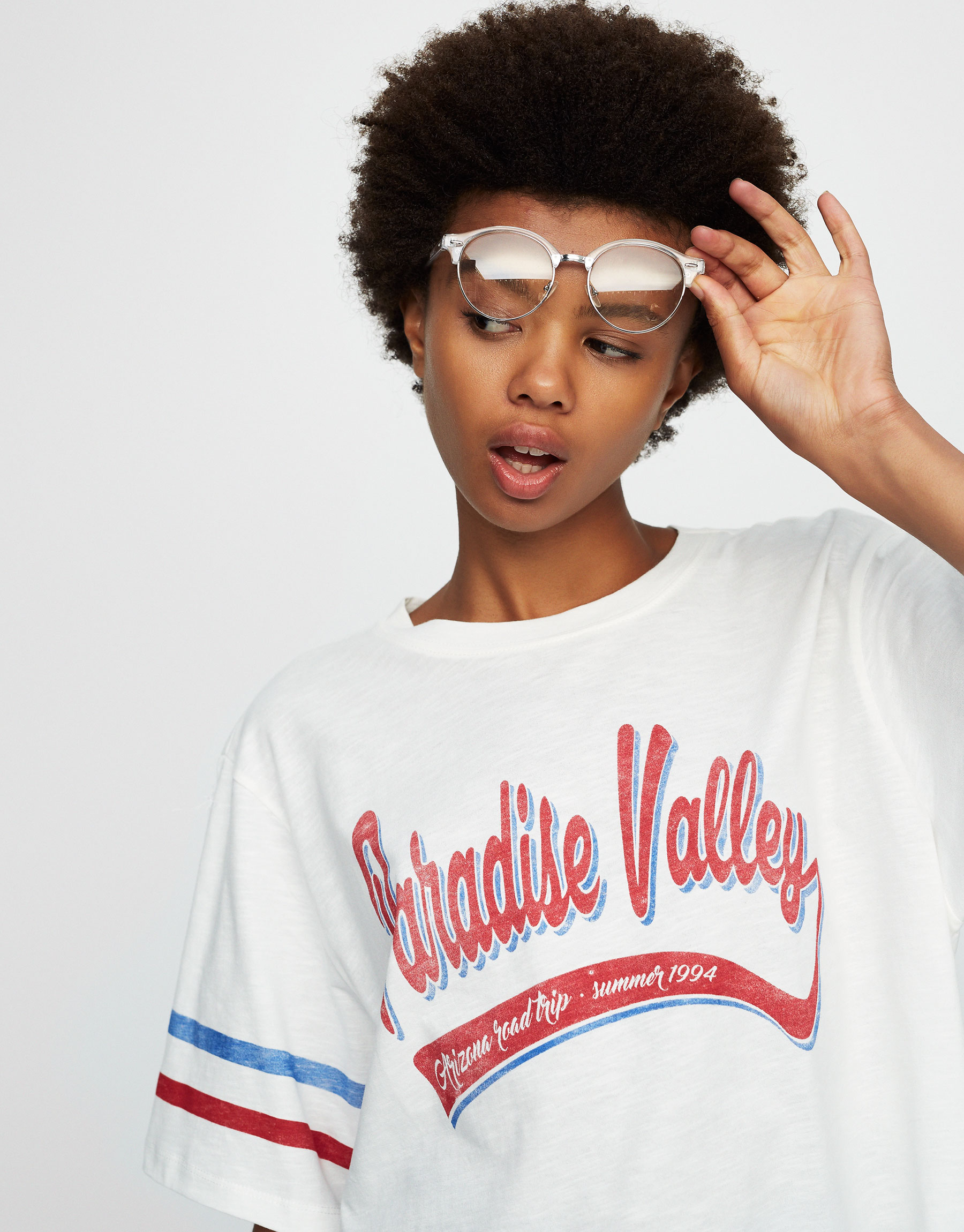 T-shirt com texto paradise valley
